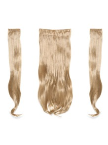 Champagne Blonde Clip In Soft Wave Hair Extension 3pcs