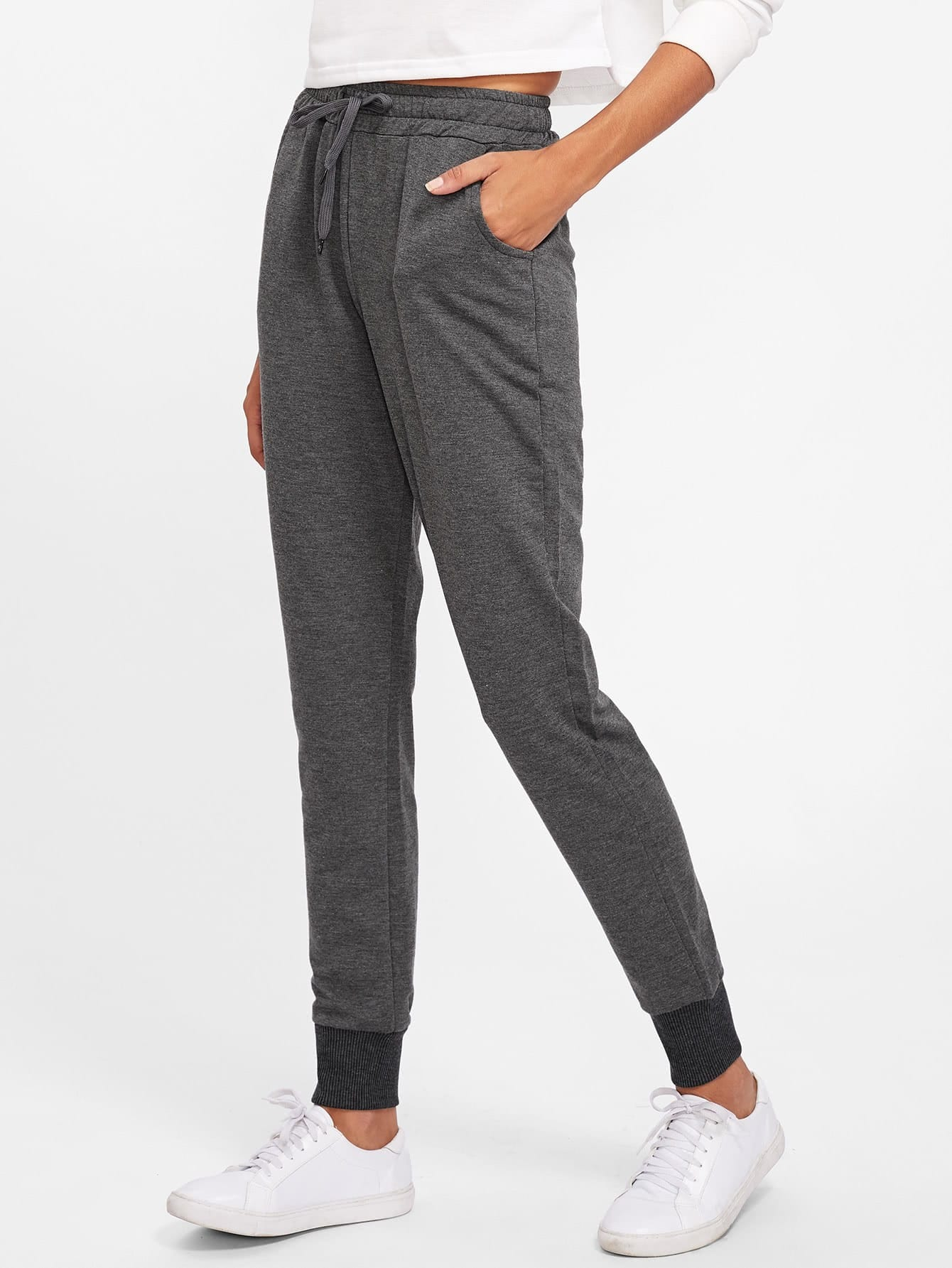 Drawstring Waist Sweatpants pants170926121