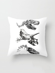 Bone Print Pillowcase Cover
