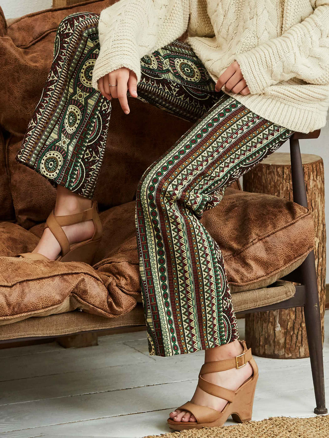 Tribal Print Pants серьги polina selezneva серьги ps by polina selezneva