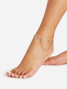 Star Charm Chain Ankle Bracelet