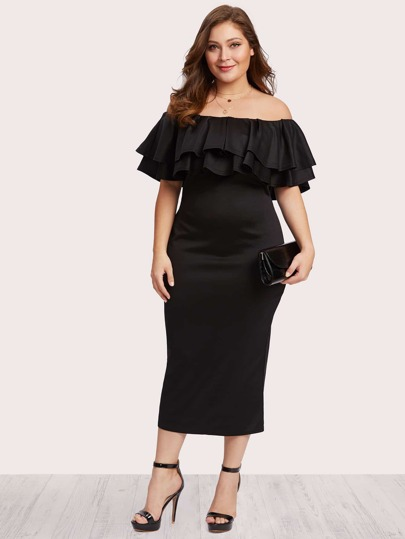 Off Shoulder Tiered Dress