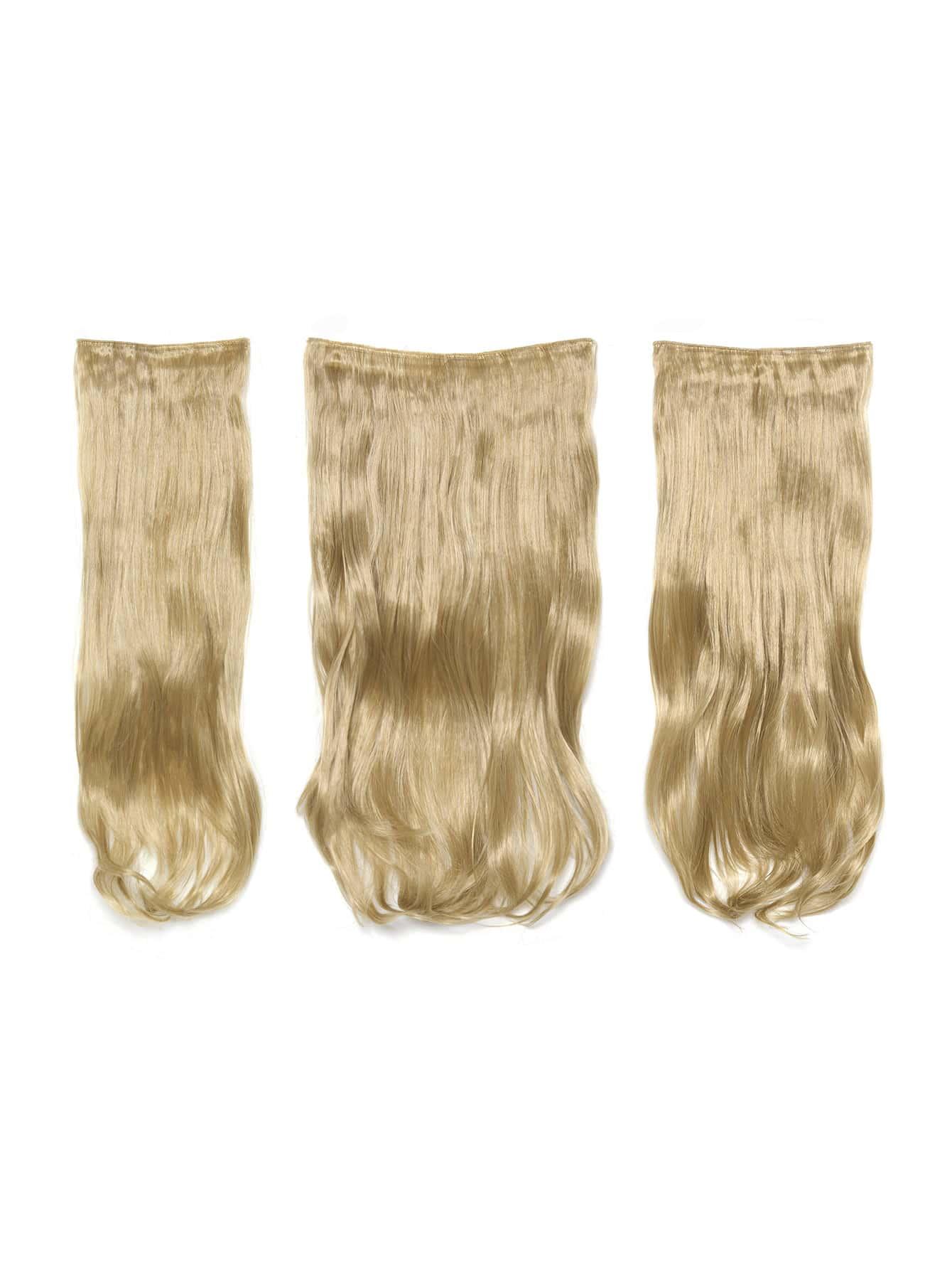 цена на Golden Blonde Clip In Soft Wave Hair Extension 3pcs