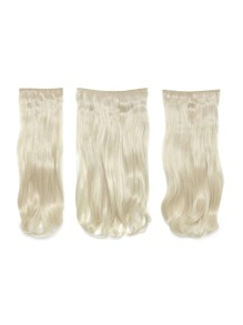Pure Blonde Clip In Soft Wave Hair Extension 3pcs