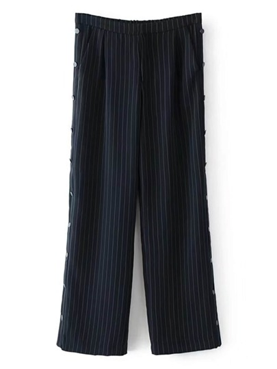 Button Up Striped Pants