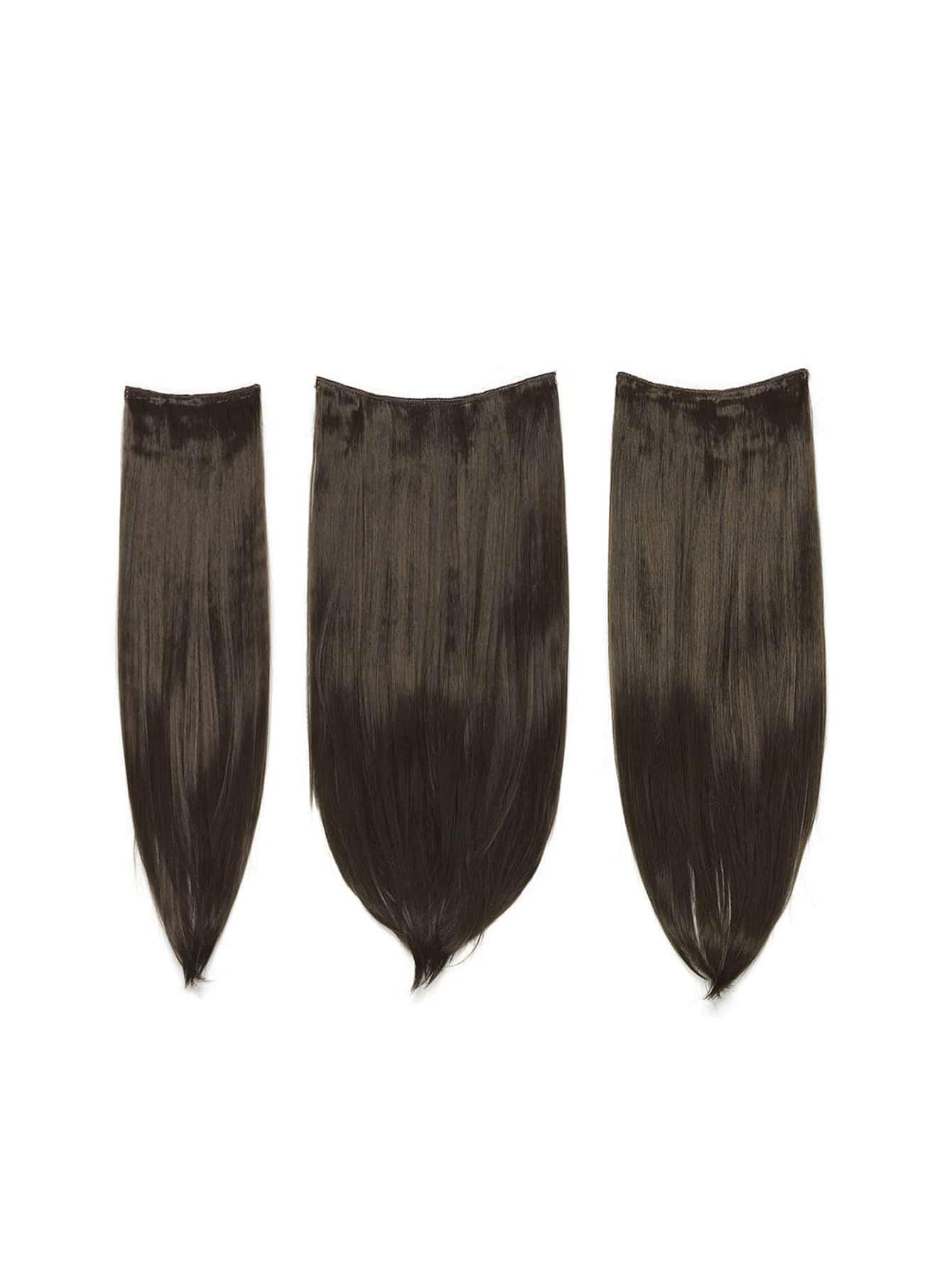 цена на Choc Brown Clip In Straight Hair Extension 3pcs