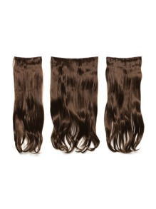 Chestnut Clip In Soft Wave Hair Extension 3pcs