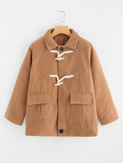 Dual Pocket Horns Button Jacket