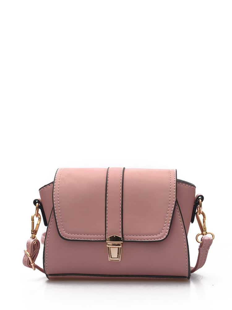 Pushlock Flap PU Shoulder Bag все цены