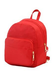 Zipper Pocket Front Backpack
