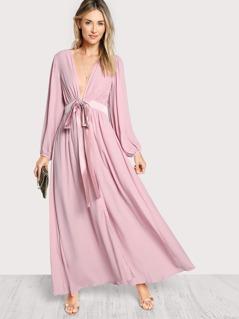 Sash Tie Waist Cover Up Dress
