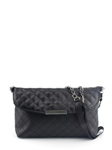 Quilted Flap PU Shoulder Bag