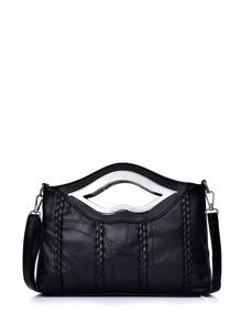 Simple Weave Shoulder Bag
