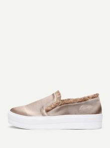 Raw Trim Slip On Sneakers