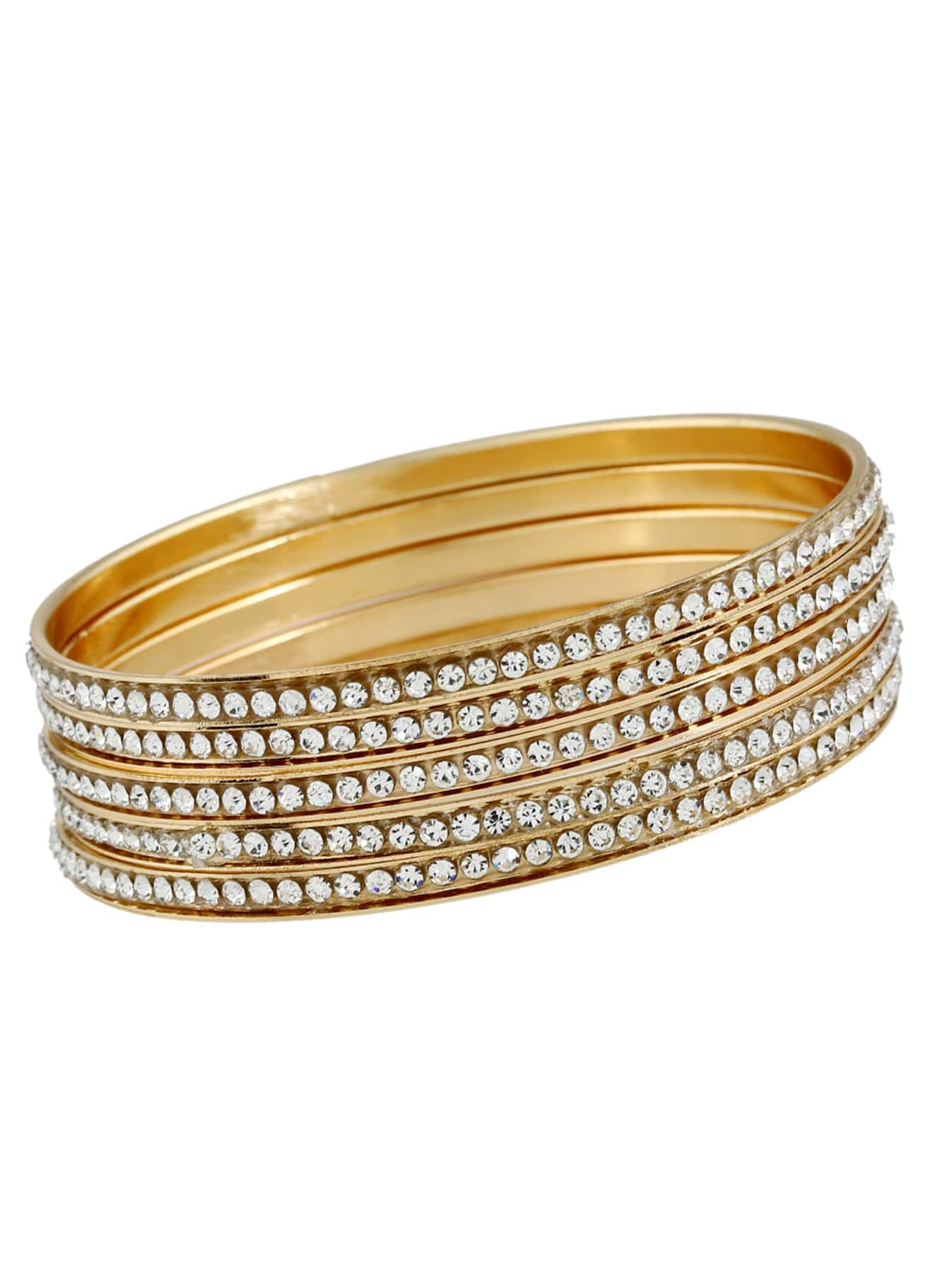 Rhinestone Bangle 5pcs