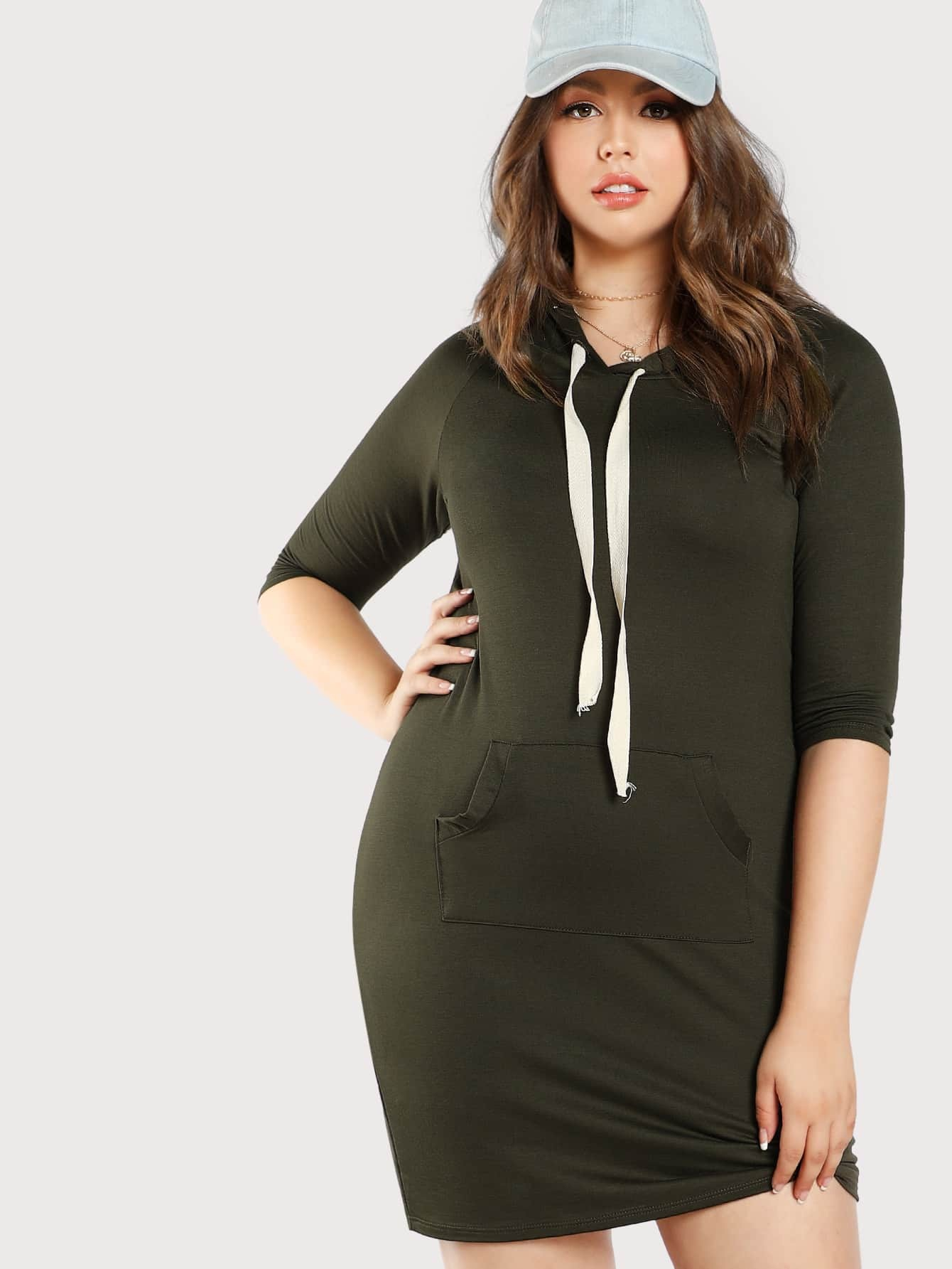 Image of Basic Hoodie Dress