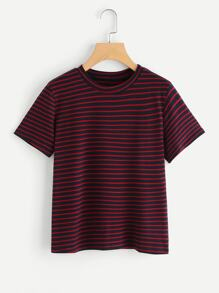 Crew Neck Striped Tee