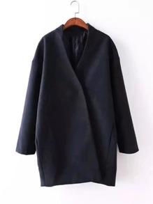 Drop Shoulder Wrap Coat
