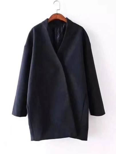 Drop Shoulder Wrap Coat