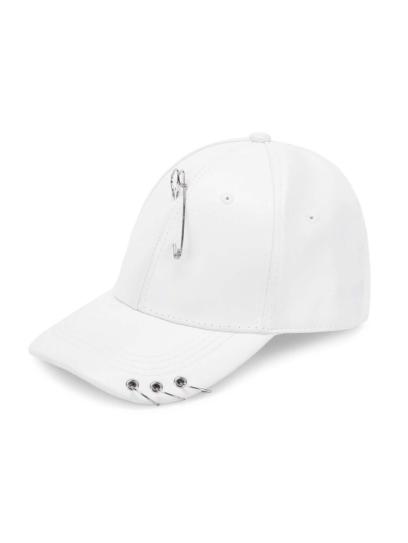 Ring Detail Baseball Cap