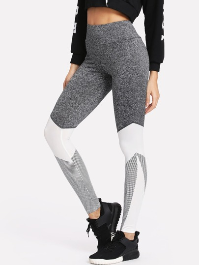 Leggings cut e sew con elastico ampio in vita