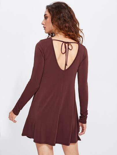 Tied Back Swing Tee Dress