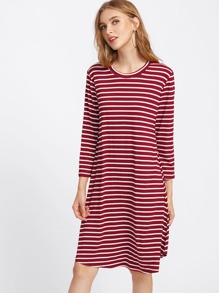 Striped Shift Tee Dress