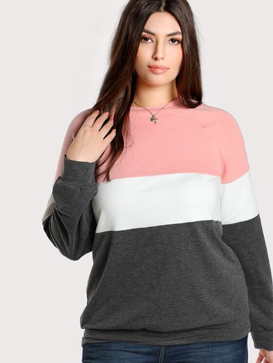 d0075710a58 Plus Cut And Sew Sweatshirt