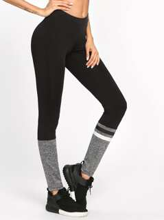 Two Tone Striped Leggings