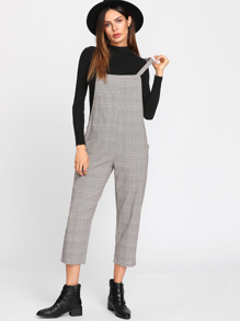 Glen Plaid Overall Pants