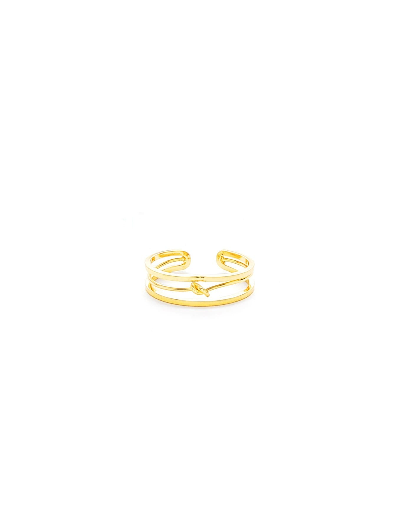 Knot Design Hollow Ring