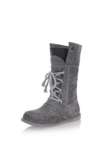 Lace Up Foldover Boots