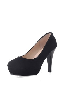 Almond Toe PU Platform Stiletto Heels
