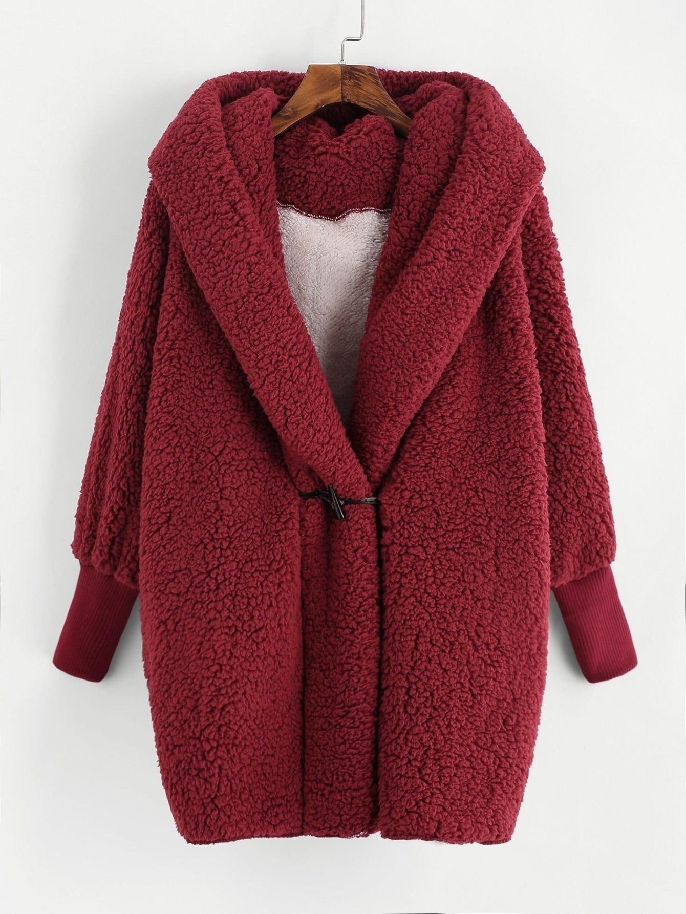 Faux Fur Hooded Coat топор truper hc 1 1 4f 14951