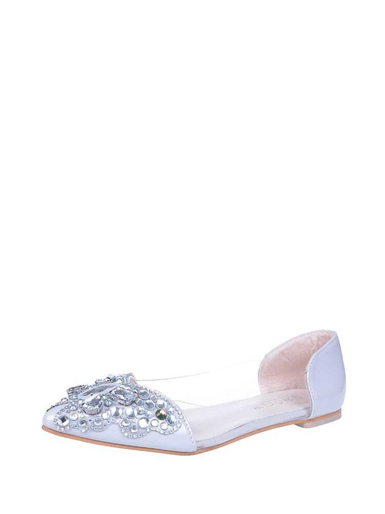 Rhinestone Embellished Ballet Flats