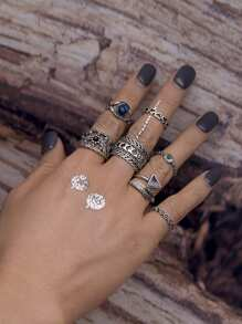 Aztec Wrap Ring Pack 7pcs