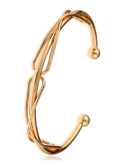 Twist Barbell Cuff Bangle