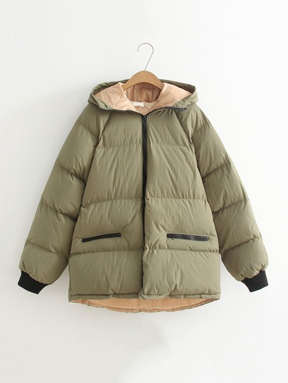 Oversized Hooded Padded Coat