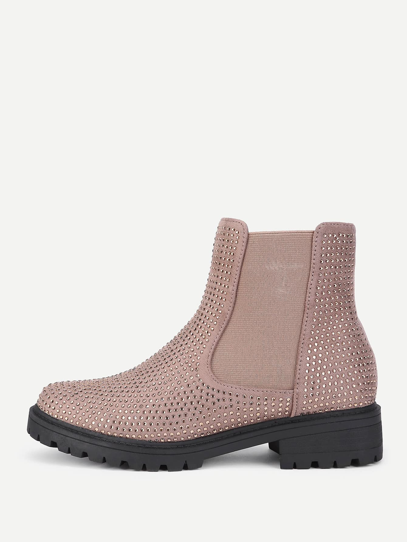 Studded Detail Chelsea Boots heeled chelsea boots