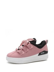 Lace Up PU Flatform Low Top Sneakers