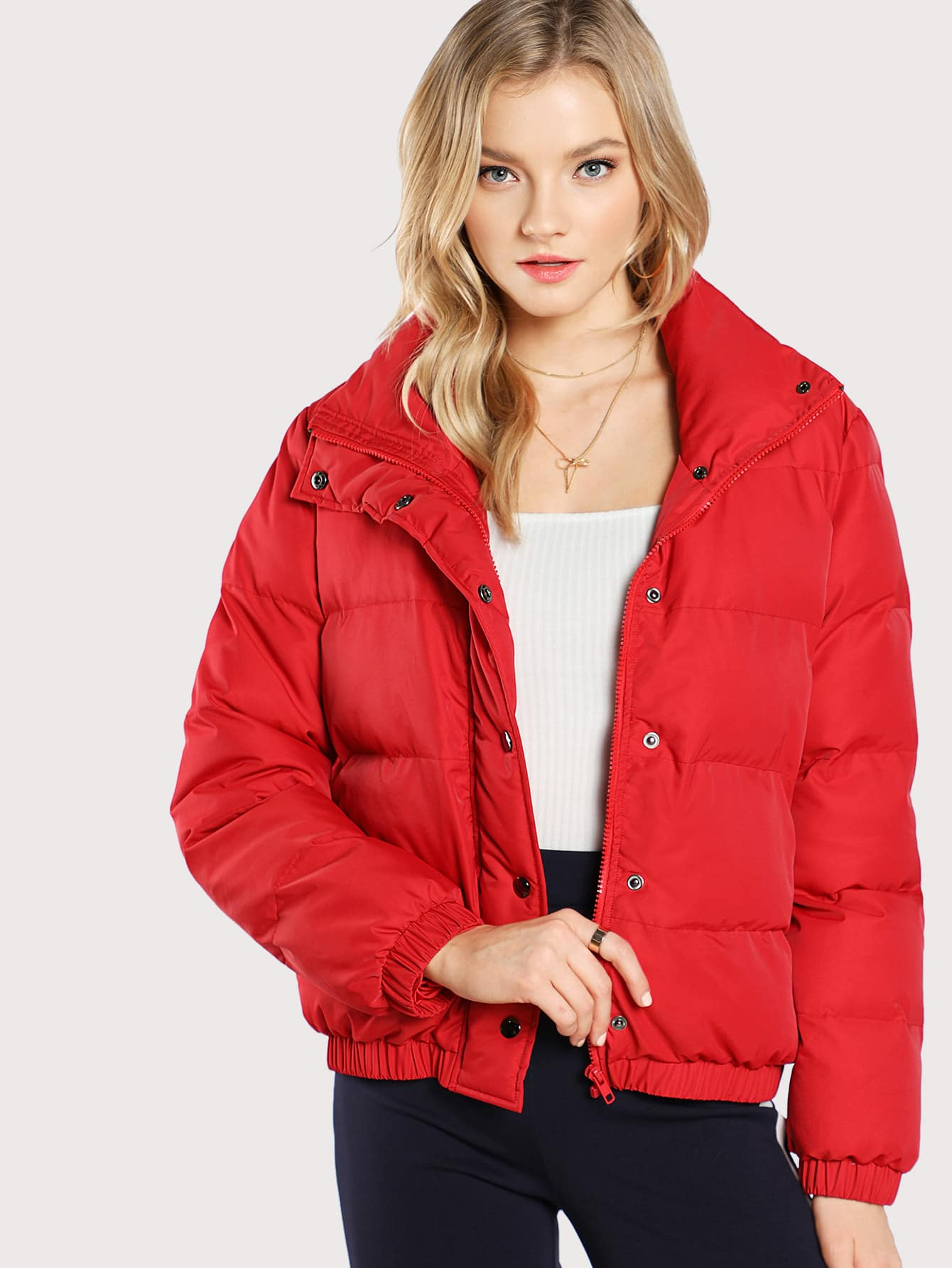 Stand Collar Puffer Coat