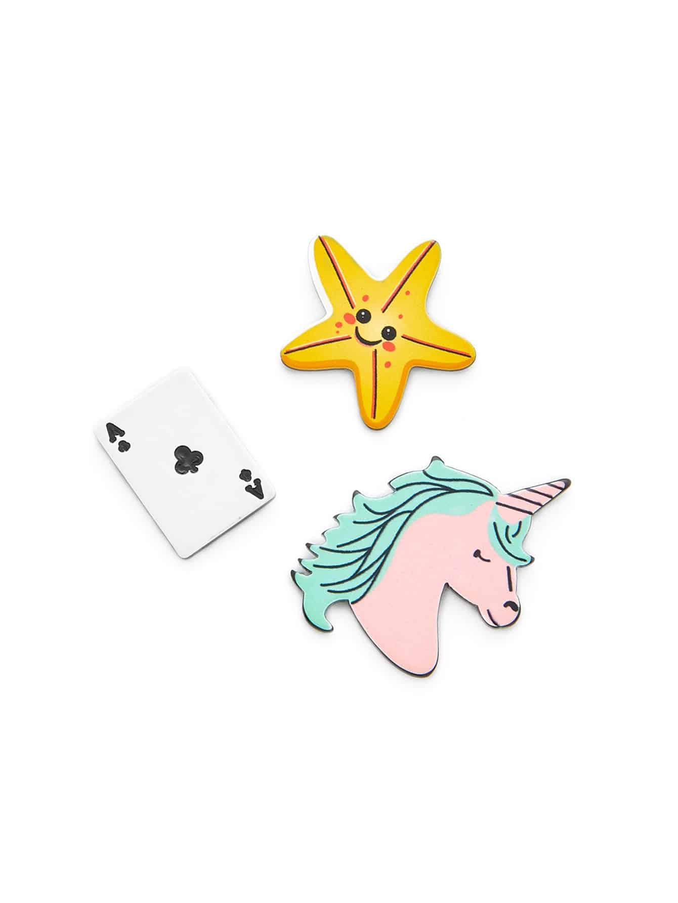 Морская Звезда & Играть Дизайн Карты Брошь Набор