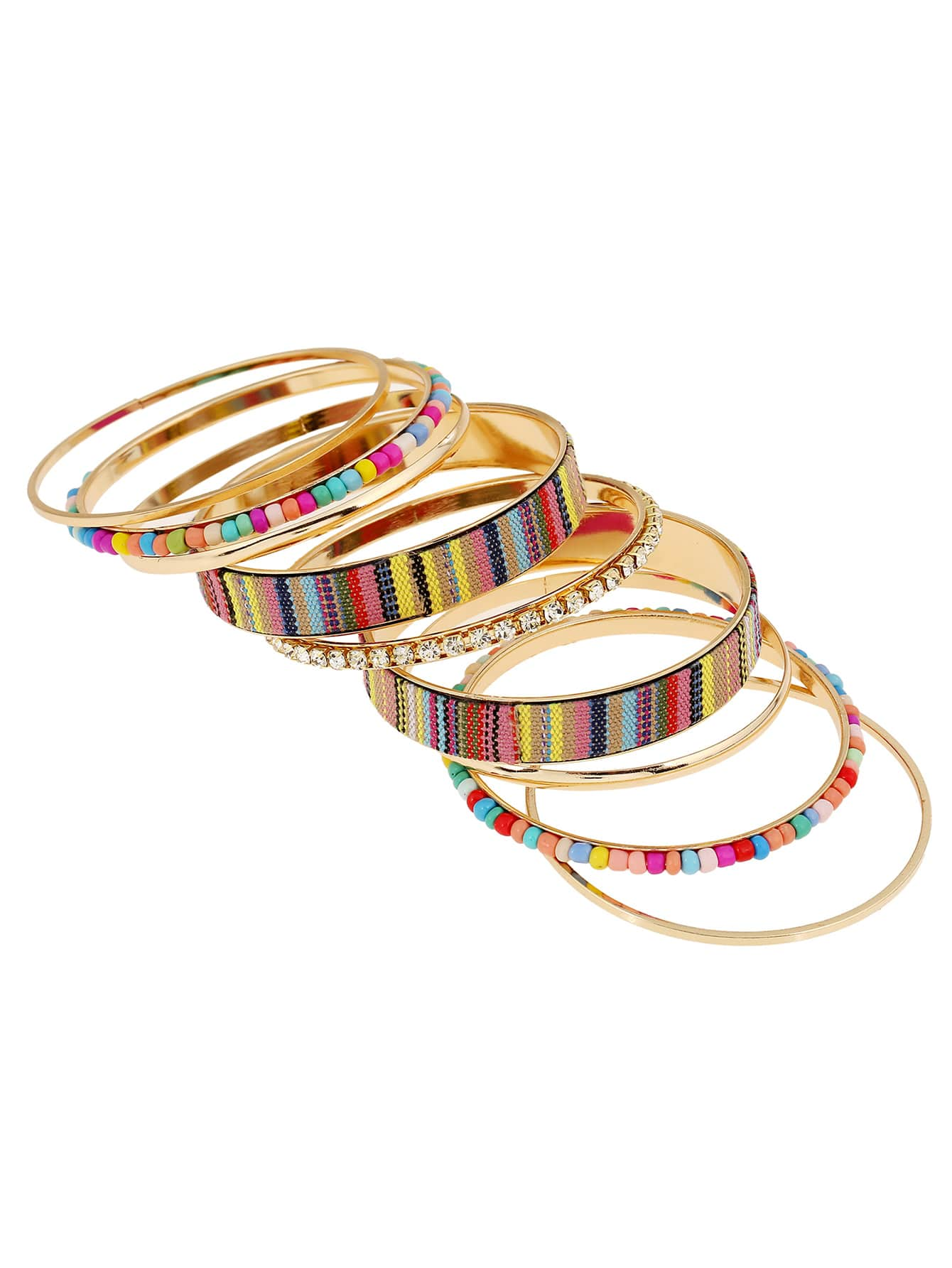 Beaded Trim Layered Bracelet 9pcs кабель микрофонный onetech pro two xlr jack 6 3 1 m