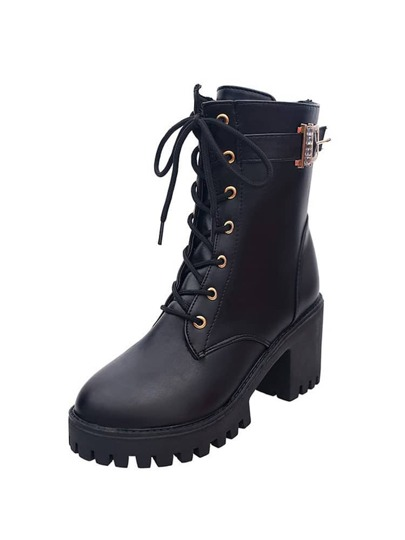 Lug Sole Lace Up Boots