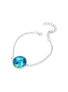 Luminous Round Charm Link Bracelet 1pc