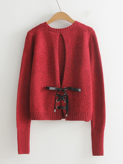 Lace Up Back Jumper Sweater