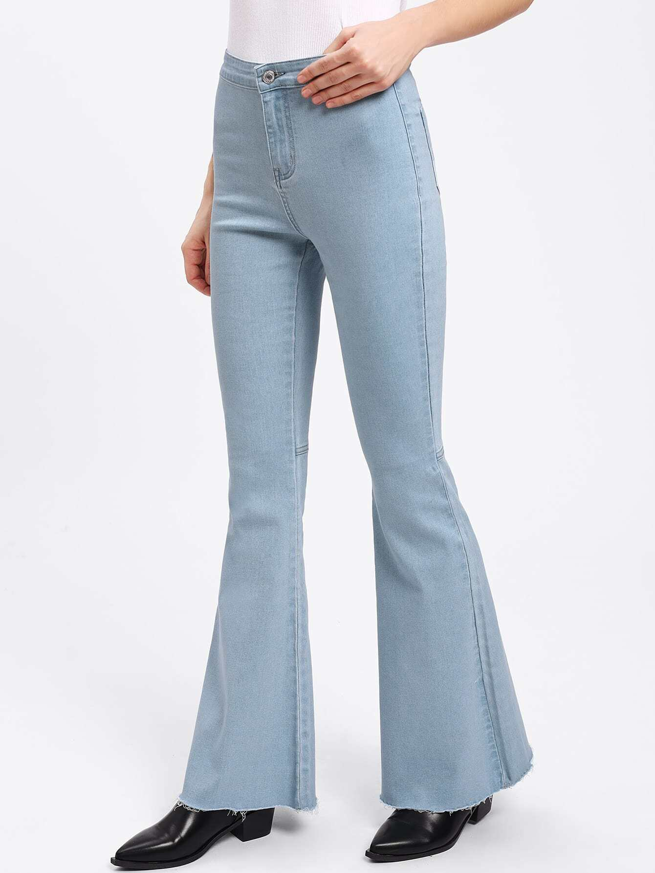 Raw Hem Flared Jeans джинсы мужские g star raw 604046 gs g star arc