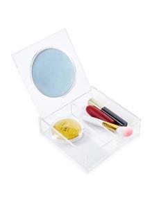 Organizer de maquillage clair avec miroir