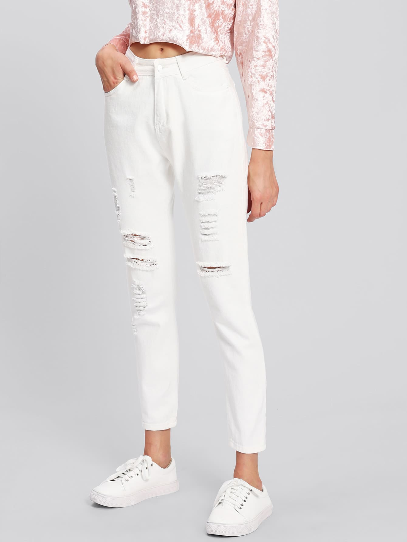 Ripped Front Jeans джеймс эшер bhakta ranga rasa india новый взгляд mp3