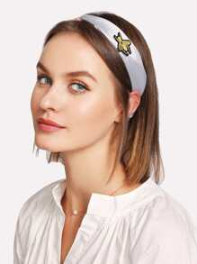 Patched Two Tone Twist Headband
